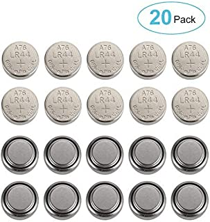 Button Cell Battery, Bingogous LR44 Battery (20 Pack)