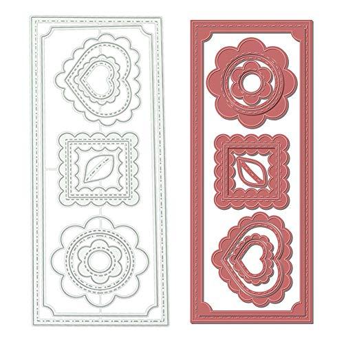 Love Heart Flower Cutting Die Scrapbooking Embossing DIY Paper Card Album Decor - Silver