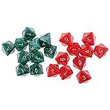 MagiDeal 20pcs D8 Dados de 8 Caras para DND RPG MTG - Rojo, Verde