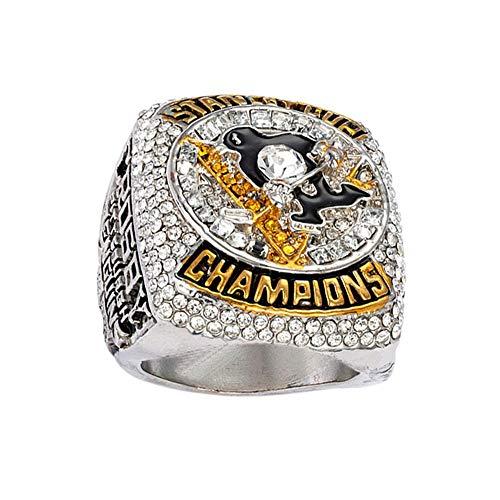 RIINNG Eishockey-Meisterschaft-Ring 2016 Pittsburgh Penguin Championship Ring Kollektion Souvenirs Fans Geschenk Schmuck 13
