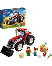 LEGO60287CityGeweldigeVoertuigenTractorwagenSpeelgoed,BoerderijsetmeteenKonijnenfiguurvoorKinderen van 5 Jaar en Ouder