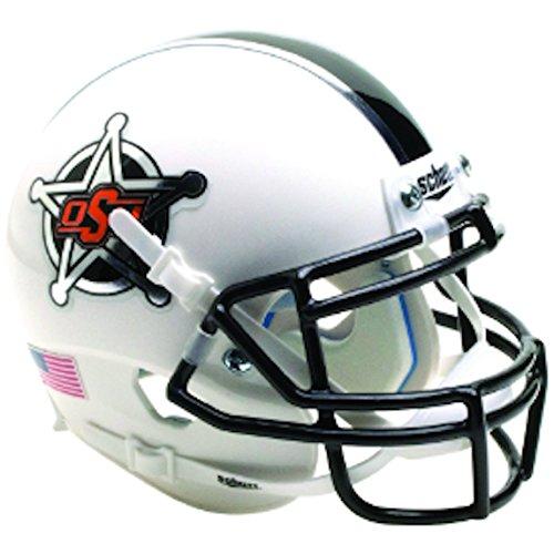 NCAA Okalahoma State Cowboys Mini Authentic XP Football Helm, White Badge 2016 Alt. 14, Mini