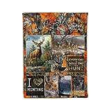 Deer Hunting Orange camo Blanket Every Day is a Good Day to Hunt Fleece, Sherpa, Minky Blanket