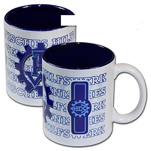 Schwemmlein THW Kaffeetasse Tasse mit Dienststellungskennzeichen - Helfer - 95x110mm