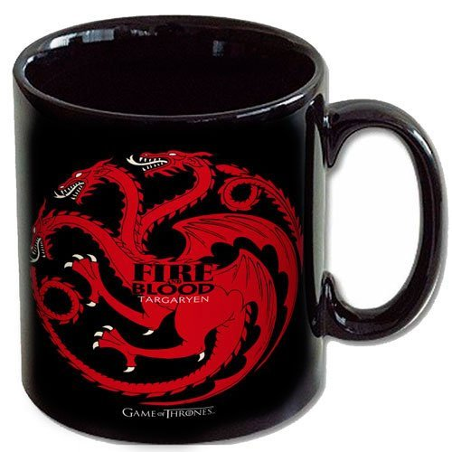 SD Toys - Taza cerámica con diseño Fire And Blood Targaryen