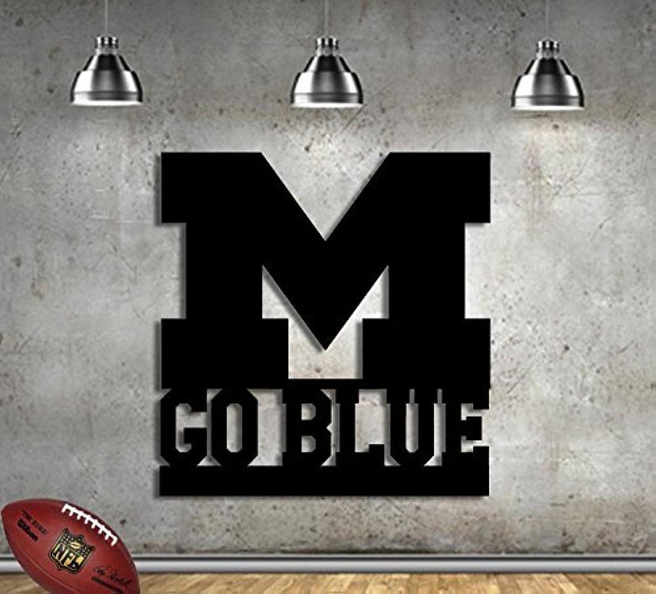 Michigan Football Sign- College Football- Metal Sign 22.5 x 23.5 - Man Cave - Football Fan - Metal Wall Art - 14 Gauge Steel Made In USA