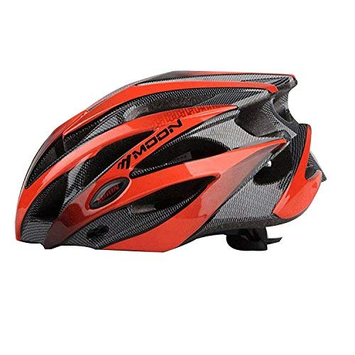 Asvert Casco de Bici Hombre Carretera MTB Visera PC+EPS Doble Protecciones Casco Ciclismo Integral Duradero y Ajustable Bici Montaña, Talla M/L