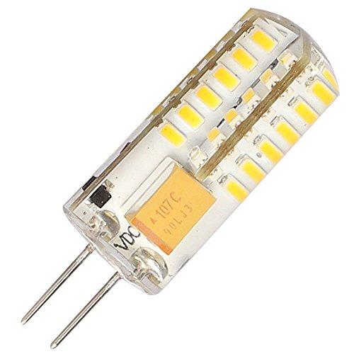 G4 Ampoule LED 3 W (équivalent à 30 W Halogen Ampoule) 250 lm 3000 K Blanc chaud, AC/DC 12 V Angle du visage lumineux de 360 degrés, SMD 3014 LED – 1 pièce