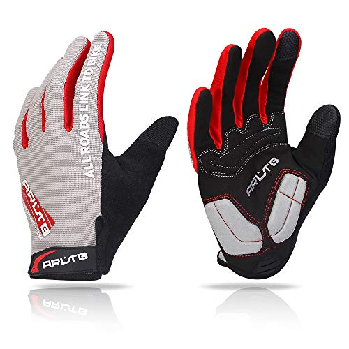 Arltb Bike Gloves Bicycle Cycling Biking Gloves Mitts Full Finger Pad Breathable Lightweight For Bike...