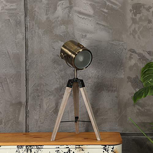 Lámpara De Pie Trípode Vintage Proyector Cilíndrico De Hierro Sombra Reflector Luz De Piso De Altura Ajustable para Sala De Estar/Dormitorio/Sala De Estudio,Table Lamp