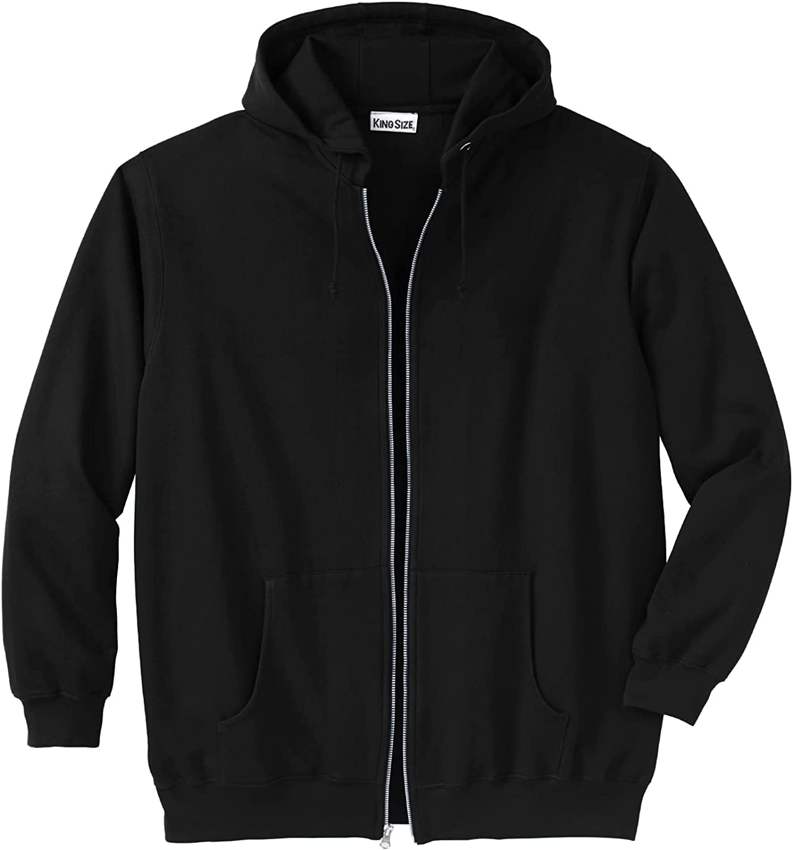 KingSize Men's Big Tall Zip-Front Super Special SALE Don't miss the campaign held Jacket Hoodie Fleece
