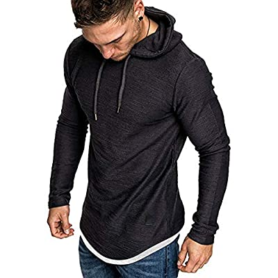 lexiart Mens Fashion Athletic Hoodie Tee Pullover Sport Sweatshirts Solid Color Shirt