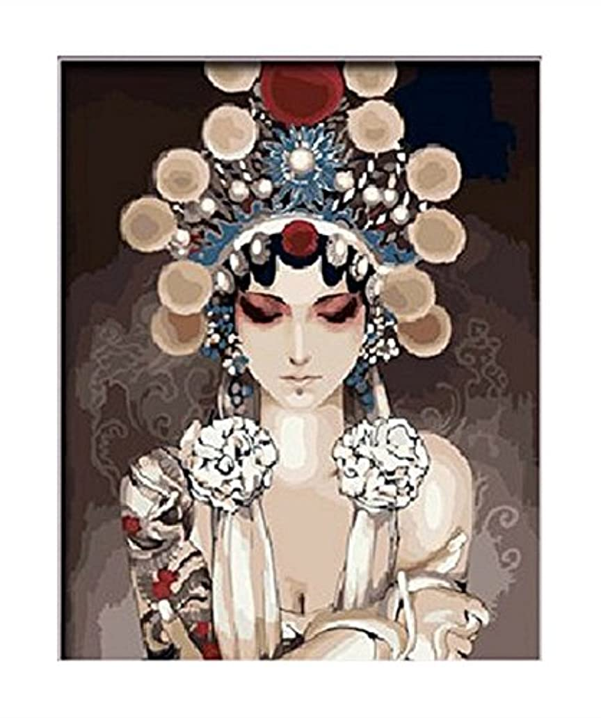 Colour Talk Diy oil painting, paint by number kit- Peking opera 16x20 inch
