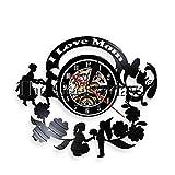 5w Nacht Glhbirne 1 Stck ich liebe dich Schallplatte Uhr auf Mutter Wand Muttertag fhrte Wandleuchte Blumen Kunst Uhr auf Wand Mutter Geschenk fr Mama Oma Zoe Knistern Mosaik Tischlampe Silber