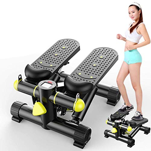Cxmm Mini Stepper Machine, Steppers para Ejercicio, Aerobic Stepper con elevadores, Multi-Function Mute Step Machine Twister Stepper Burn Calories Gimnasio doméstico