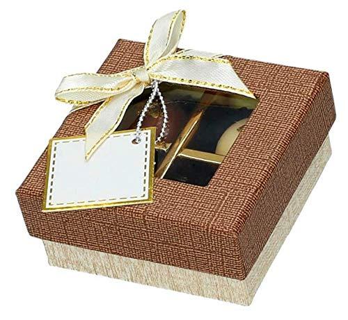 Taartdecoratie winkel chocolade case voor 4 bonbons Treasure