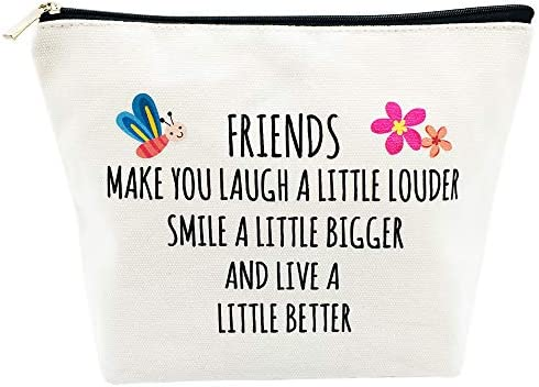 Friendship Gifts Best Friends Gifts for Women Birthday Friends Laugh Smile Live Better Life product image