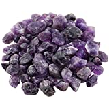 mookaitedecor Piedras de amatista en bruto, piedras preciosas minerales para familia/oficina/jardín/acuario, decoración de cristal, reiki y curación (460 g)