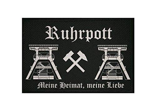 U24 Aufnäher Ruhrpott Fahne Flagge Aufbügler Patch 9 x 6 cm