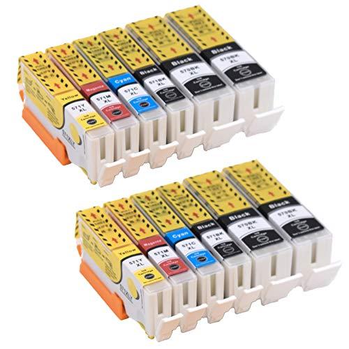 Pure-color 12 stuks Vervanging voor Canon PGI-570 CLI-571 inktcartridge Compatibel voor Canon MG5750 TS5050 MG5751 MG5752 MG5753 MG6850 MG6851 MG6852 MG6853 TS5051 TS5053 TS5055 TS6050 TS6051 TS6052