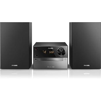 Philips BTM2310 Chaîne Hifi Bluetooth avec Lecteur CD, USB, Radio FM, Entrée Audio