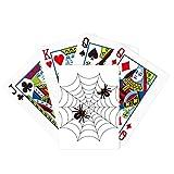 Insecto araña telaraña negro ilustración póker jugar magia tarjeta divertido juego de mesa
