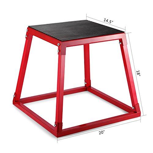 OldFe Plyometric Boxes 45cm Plyometric Platform Jump Box Workout Platform Plyo Box Esercizio Plyo Box per Saltare