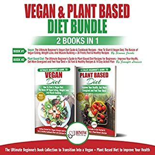 Vegan & Plant Based Diet - 2 Books in 1 Bundle cover art