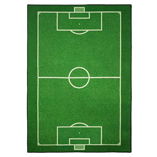 GUIZMAX Tapis Enfant Terrain de Football 133 x 95 cm Chambre Foot