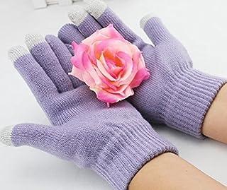 I-Sonite (Light Purple) Universal Unisex One Size Winter Touchscreen Gloves for LG K10 Power