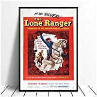 Suuyar ローンレンジャーヴィンテージクラシック映画のポスターとプリント壁アートプリントキャンバスにリビングルームの家の寝室の装飾-24X32インチX1フレームレス