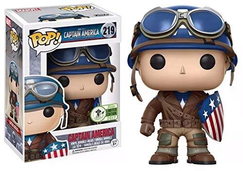 Nobranded Funko Pop Avengers 4Q versión Capitán América 219 decoración Modelo Q versión muñeca decoración pequeña Escultura