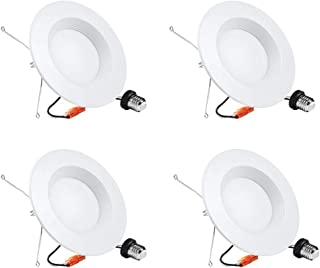 4 Pack 5/6 inch Dimmable LED Downlight, Recessed Retrofit Lighting Fixture, 15W (100W Replacement), 5000K Daylight White, 1360LM, Energy Star & ETL, LED Ceiling Light (5000K(Daylight White), 4 Pack)