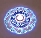 SUNNOW Ceiling Light,LED Crystal Ceiling Lamps,Flush Mounted Lighting Chandeliers for Hallway,Study...
