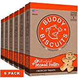 Buddy Biscuits Oven Baked Treats with Peanut Butter, Whole Grain - 96 oz. - 6 pack
