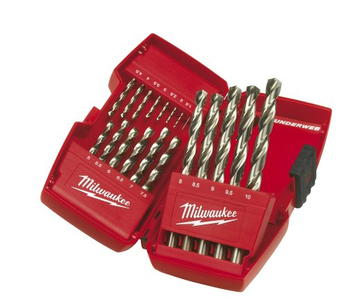 Milwaukee 4932352374 Drill, Set 19 Piece 1-10mm