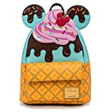Loungefly Disney Mickey and Minnie Mouse Sweets Ice Cream Womens Double Strap Shoulder Bag Purse