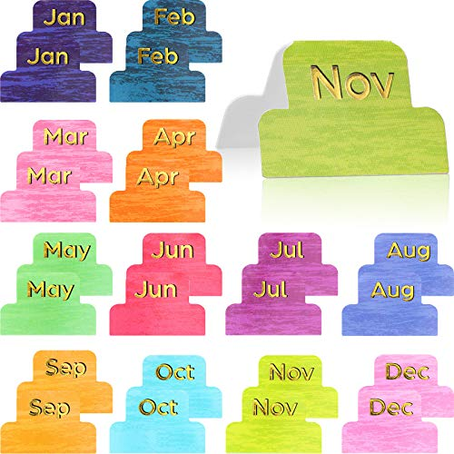 24 Pieces Monthly Adhesive Tabs Colorful Neutral Metallic Planner Stickers Designer Accessories Decorative Monthly Adhesive Index for Office Study Planners Organizations