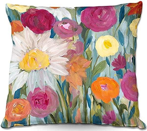DiaNoche Designs PilWOVCarrieSchmittEarthatDaybreak1 Couch Throw Pillows 16 X 16