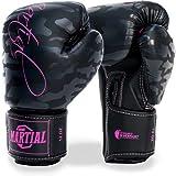Martial Frauen Boxhandschuhe aus bestem Material für Lange Haltbarkeit! Kickboxhandschuhe für Kampfsport, MMA, Sparring und Boxen mit optimaler Schlagdämpfung - inkl Beutel!