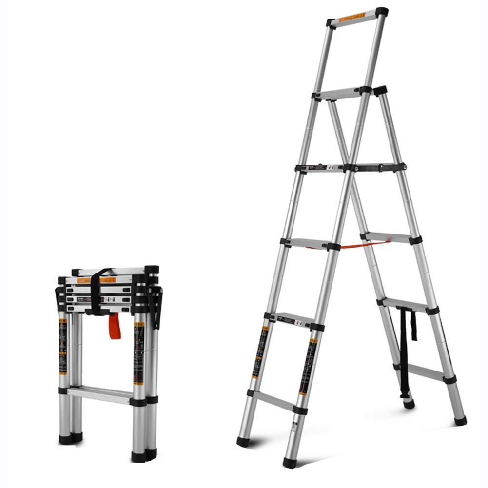 ASWT-Escalera Telescópica,Zigzag Escalera Plegable De Aleación De Aluminio Multifuncional Portátil Profesión Inicio Espesar Antideslizante Escalera Ingeniería Carga Máxima 150Kg: Amazon.es: Bricolaje y herramientas