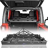 Hooke Road JLU Cargo Cover Basket Rack Luggage Storage Carrier Compatible with Jeep Wrangler JLU 4-Door 2018 2019 2020 2021 Hardtop & Sky One-Touch Power Top