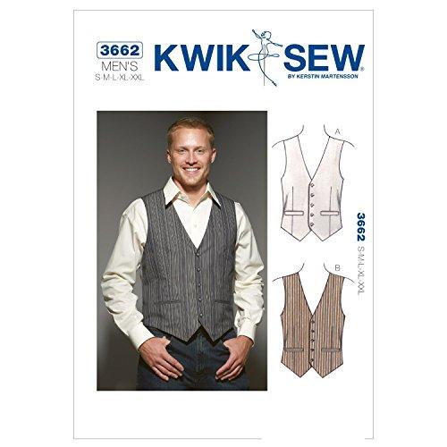 Kwik Sew Mustern k3662Gr. S–M–L–XL–XXL Westen, weiß, 1Stück