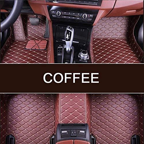 YJLOVK para un Custom Luxury Smart Smart fortwo 2seat 2007-2015s 2015-2018s Smart forfour 4seat 2016-2018s Alfombrillas de Coche duraderas a Prueba de Polvo, café