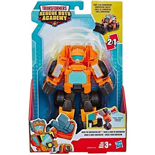 Transformers - Wedge Il Costruttore (Playskool Heroes Rescue Bots Academy, Giocattolo trasformabile, Action Figure da 15 cm)