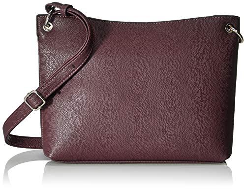 TOM TAILOR Umhängetasche Damen Effie, Rot (Dunkelrot), 30x22x8.5 cm, TOM TAILOR Handtaschen, Taschen für Damen, klein