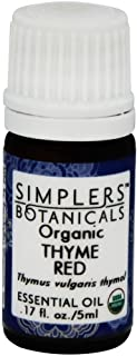 Living Flower Essences Simplers Botanicals Thyme Red Thymol Organic, 0.16 Fluid Ounce