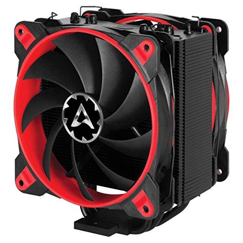 Arctic Freezer eSports Edition – Dissipatore di processore semi-passivo con ventola da PWM 120 mm, Dissipatore per CPU fino una potenza di raffreddamento – Rosso