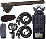 Sennheiser MKE 600 Video, Cinema and Broadcasting Shotgun Microphone Kit with Shockmount, Windscreen Bundle and with Zoom H6 Recorder