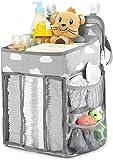 DELERKE Hanging Crib Organizer, Windel Organizer, Multifunktionale Nachttischtasche zum Aufhängen für Hängen auf Babybett, Auto, Wickeltisch oder Wand für Neugeborene und Junge Eltern